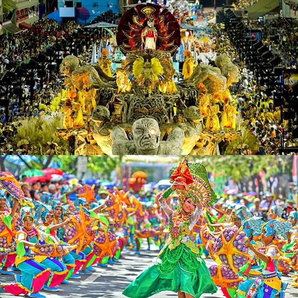 Festival in Brazil (top), Festival in Cebu (bottom)