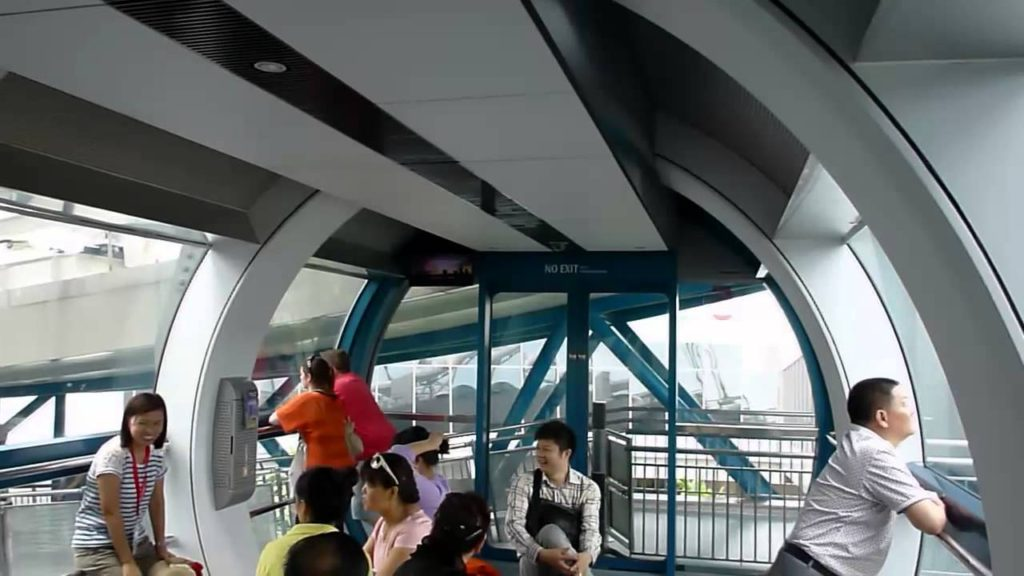 Inside look of the singapore flyer